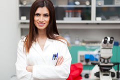 Female Scientist Working In Laboratory Royalty Free Stock Photography