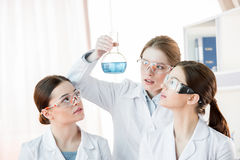 Female scientists in laboratory royalty free stock photography