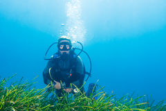Female Scuba Diver Royalty Free Stock Photo