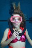 Female scuba diver Royalty Free Stock Photography