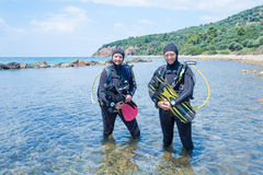 Female Scuba Divers Royalty Free Stock Images