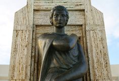 Female sculpture in Constanta, Romania Stock Photo