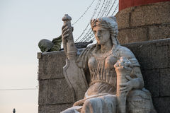 Female sculpture at the rostral column Stock Photos