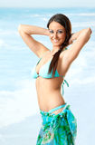 Female sea swimsuit Royalty Free Stock Images