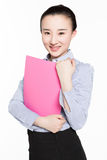 Female secretary with expertise Royalty Free Stock Images
