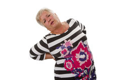 Female senior with backache Royalty Free Stock Photo