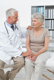 Female senior patient visiting a doctor Stock Photography