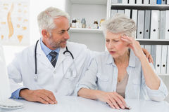 Female senior patient visiting doctor Royalty Free Stock Photo