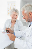Female senior patient visiting a doctor Royalty Free Stock Photography