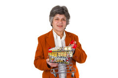 Female senior with pills Stock Photography
