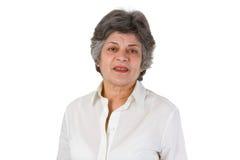 Female senior portrait Royalty Free Stock Images
