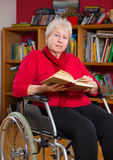 Female senior is reading Royalty Free Stock Photo