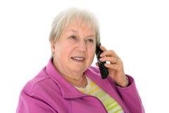 Female senior with smartphone Stock Photos