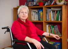Female senior in wheelchair Stock Photo