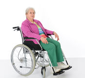 Female senior in wheelchair Stock Image
