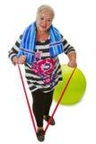 Female Senior Woman Exercises Stock Image