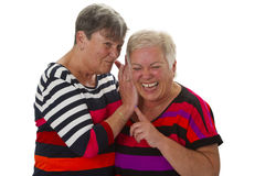 Female senior woman have fun together Royalty Free Stock Photography