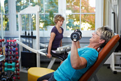 Female senior working out Stock Photography