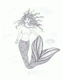 Female sensual mermaid Royalty Free Stock Image