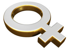 Female sex symbol. On a white background stock illustration