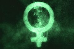 Female sex symbol. Green symbol. Symbol stock photo