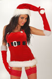 Female sexy santa Royalty Free Stock Image