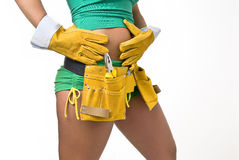 Female Sexy Worker Stock Photo
