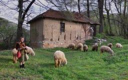 Female shepherd Stock Photos