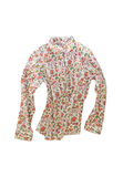 Female shirt, blouse with bright floral pattern, isolated on whi Stock Image