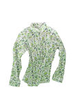 Female shirt, blouse with bright floral pattern, isolated on whi Stock Images