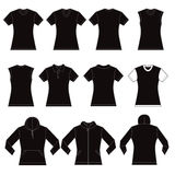 Female Shirts Template Royalty Free Stock Photos