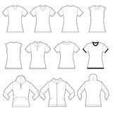 Female Shirts Template Stock Images