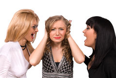 Female shocked by screaming isolated Royalty Free Stock Photography