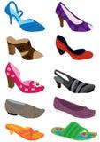 Female Shoe_eps. Illustration of female shoe design on white background Royalty Free Stock Photos