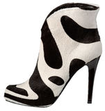 Female shoe with high heel. On white background royalty free stock photos