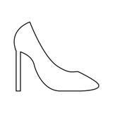 Female shoe isolated icon. Illustration design Royalty Free Stock Photography