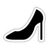Female shoe isolated icon. Illustration design Royalty Free Stock Images