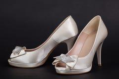 Female shoes on dark background Stock Image