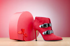 Female shoes - fashion concept Royalty Free Stock Photography