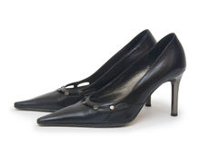 Female shoes in fashion concept Royalty Free Stock Photos