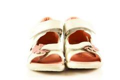 Female  shoes isolated on white background child kids beautifu Royalty Free Stock Photography
