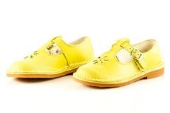 Female  shoes isolated on white background child kids beautifu Royalty Free Stock Images