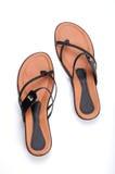 Female shoes. Luxury female shoes on white Royalty Free Stock Image