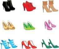 Female shoes set Royalty Free Stock Photography