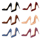 Female shoes set Royalty Free Stock Photo