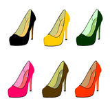 Female shoes in  Stock Photos