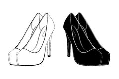 Female shoes in  Stock Photo