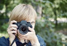 Female shooter Royalty Free Stock Images