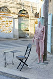 Female Shop Dummy Fashion Mannequin. Near the department store boutique wearing current women`s fashions in clothes. City of Jaffa in Israel Royalty Free Stock Images