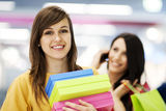 Female shoppers stock photos